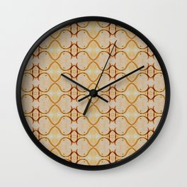 Aztec Earth Tone Striped Abstract Wall Clock