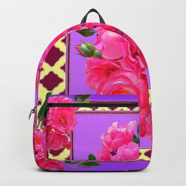 PANTENE ULTRA VIOLET PURPLE  PINK GARDEN ROSES Backpack