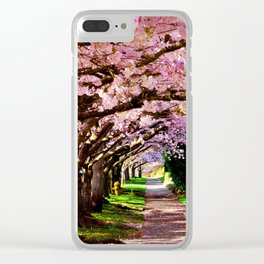 trees and blossoms Clear iPhone Case