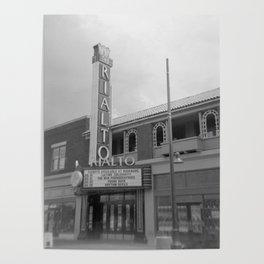 Vintage Neon Sign - The Rialto Theater - Tucson Arizona Poster