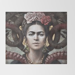 Hommage a Frida 5 Throw Blanket