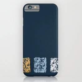 Blue with Squares iPhone Case