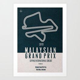 2013 Malaysian Grand Prix Art Print