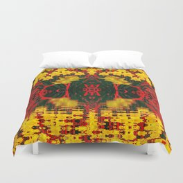 MODERN GARDEN DECORATIVE RED YELLOW DAFFODILS Duvet Cover