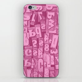 Millie's Wooden Letterpress Blocks iPhone Skin