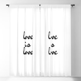 love is love black and white Blackout Curtain