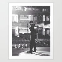 johnny cash Art Prints featuring Johnny Cash by Earl of Grey