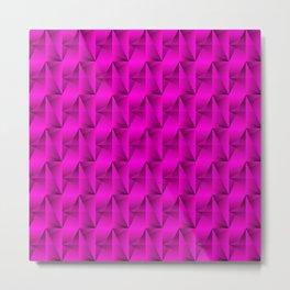 Strange arrows of pink rhombs and black strict triangles. Metal Print