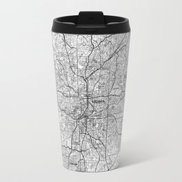 Atlanta Georgia Map (1981) BW Travel Mug