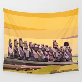 Geometric Easter Island Wall Tapestry