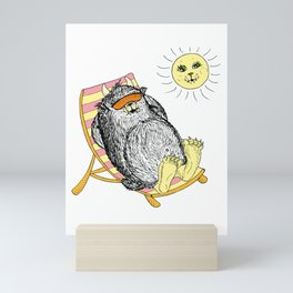 Mega Monster Sunbath pink Mini Art Print