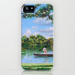 Mary Poppins in the park iPhone Case