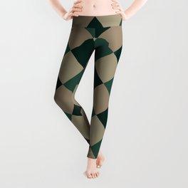 Brown green plaid Leggings