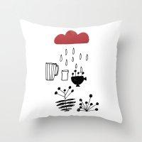 calendar Throw Pillows featuring CALENDAR 2014 by Maruša Novak