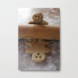 Attack of the Gingerbread man Metal Print