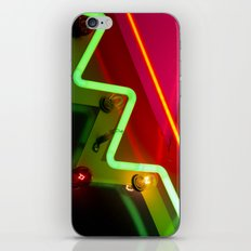 Neon sign closeup iPhone Skin