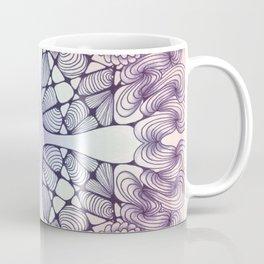 Purple Wash Zentangled Cross Tile Doodle Design Coffee Mug