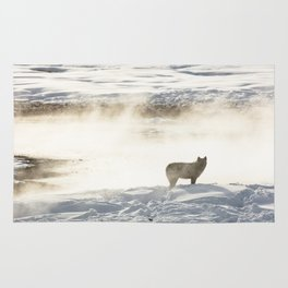 Yellowstone National Park - Wolf and Hot Spring Rug