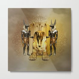 Anubis the egyptian god Metal Print