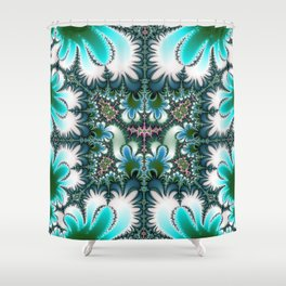 Fractal Rectangle Shower Curtain