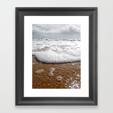 walk into the sea Framed Art Print