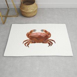 Polygon geometric crab Rug