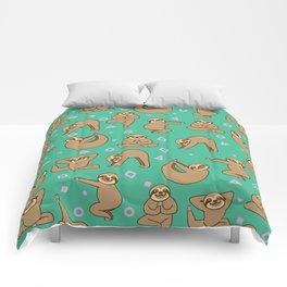 Cute Sloth Yoga Comforters