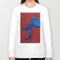 legs Long Sleeve T-shirts featuring Legs by Sian Blackman