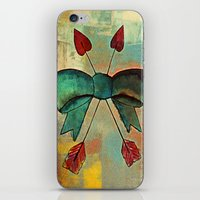 bow iPhone & iPod Skins featuring Bow by Kerri Swayze
