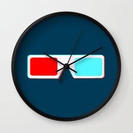 3-D Glasses Wall Clock