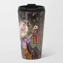 Rucus Studio Pumpkin Man and Fireflies Travel Mug