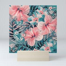 Vintage Jade Coral Aloha Mini Art Print