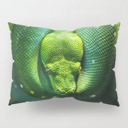 Emerald Tree Boa Pillow Sham