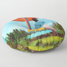 Lips & Rainbow Floor Pillow