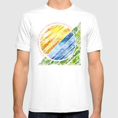 The World Awakens Mens Fitted Tee White SMALL