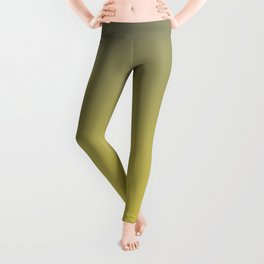 Green and Yellow Gradient Blend Pantone 2021 Color of the Year Illuminating 13-0647  Leggings