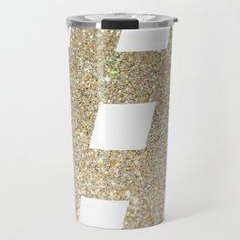 # Hashtag - Gold Glitter Travel Mug