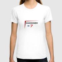 f1 T-shirts featuring F1 2015 - #7 Raikkonen [v2] by MS80 Design