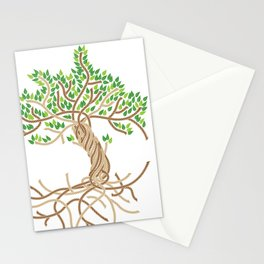 Rope Tree of Life. Rope Dojo 2017 white background Stationery Cards