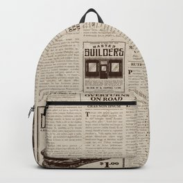 Vintage Newspaper Backpack