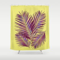 palms Shower Curtains featuring Palms by  Agostino Lo Coco