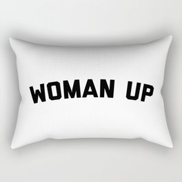Woman Up Funny Quote Rectangular Pillow
