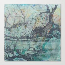 Tree By A Pond Canvas Print