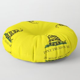 "Gadsden ""Don't Tread On Me"" Flag, High Quality image Floor Pillow"