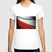 poland T-shirts featuring flag of Poland by Lulla