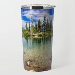 Mountain Lake in the Mt Rainier National Park Travel Mug