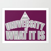 wtnv Art Prints featuring The University of What It Is by mystmoon