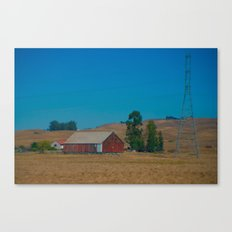 Red Barn in Napa Canvas Print