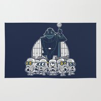 minions Area & Throw Rugs featuring Stormtrooper Minions by Hugo Martin