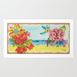 Brazilian beaches Art Print